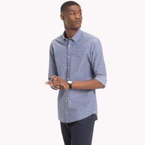 Camisa-Masculina-Premium-Popeline-Slim-Fit-Manga-Longa-Micro-Estampa---P