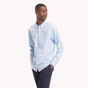 Camisa-Masculina-Popeline-Slim-Fit-Manga-Longa-Micro-Xadrez-Pied-Poule---P