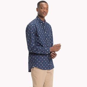 Camisa-Masculina-Regular-Fit-Manga-Longa-Estampa-Brasao---P