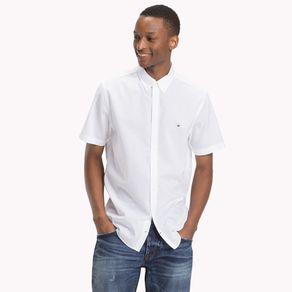 Camisa-Masculina-Popeline-Regular-Fit-Manga-Curta-Lisa---P