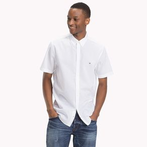 Camisa-Masculina-Popeline-Regular-Fit-Manga-Curta-Lisa---G