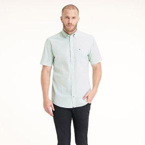 Camisa-Masculina-Popeline-Regular-Fit-Manga-Curta-Micro-Estampa---P