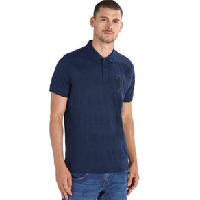 Tommy-Camisa-Polo-Masculina-Regular-Fit-Manga-Curta-Mix-De-Tecidos-Bordado-Frontal-Com-Logo-Na-Manga---P
