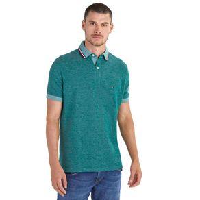 Tommy-Camisa-Polo-Masculina-Oxford-Regular-Fit-Manga-Curta-Lisa-Detalhe-Listras-Na-Gola---P