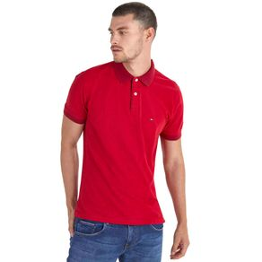 Tommy-Camisa-Polo-Masculina-Piquet-Regular-Fit-Manga-Curta-Micro-Estampa---EGG