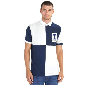 Tommy-Camisa-Polo-Masculina-Rugby-Regular-Fit-Manga-Curta-Quadriculada-Detalhe-Bordado-Frontal---P