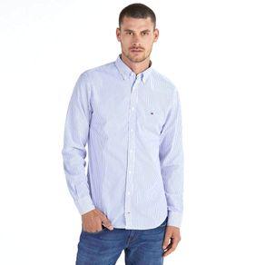 Tommy-Camisa-Masculina-Popeline-Regular-Fit-Manga-Longa-Listrada---P