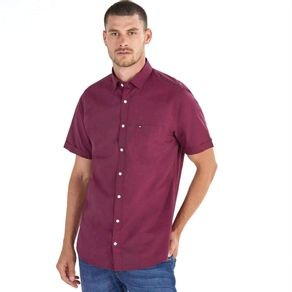 Tommy-Camisa-Masculina-Regular-Fit-Manga-Curta-Micro-Estampa-Com-Bolso---P