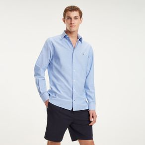 Tommy-Camisa-Oxford-Regular-Fit-Manga-Longa-Lisa---P