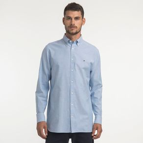 Tommy-Camisa-Oxford-Regular-Fit-Manga-Longa-Lisa---P