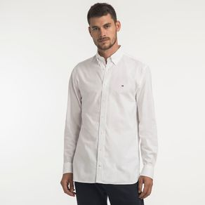 Tommy-Camisa-Oxford-Regular-Fit-Manga-Longa-Lisa---G