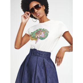 Zendaya-Camiseta-Manga-Curta-Estampa-Signo-Touro