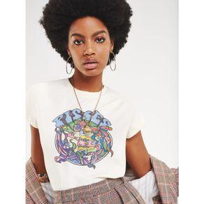 Zendaya-Camiseta-Manga-Curta-Estampa-Signo-Peixes