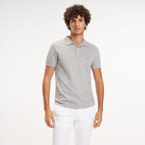 Tommy-Polo-Piquet-Slim-Fit-Manga-Curta-Detalhe-Logo-Costas