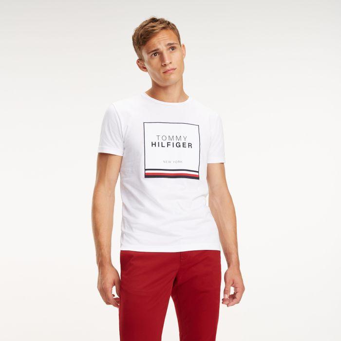 e42403d9935d Tommy Camiseta Manga Curta Estampa Box