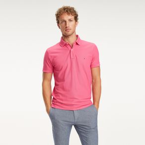 Tommy-Polo-Performance-Piquet-Regular-Manga-Curta-Lisa