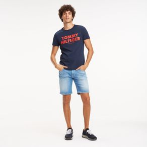 Tommy-Camiseta-Manga-Curta-Slogan--Tommy-Hilfiger-