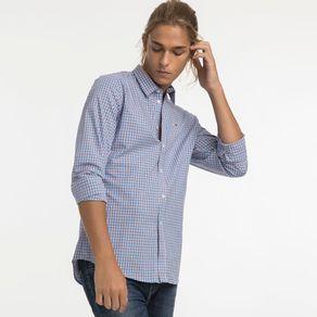 Tommy-Jeans-Camisa-Regular-Manga-Longa-Xadrez-Sem-Bolso