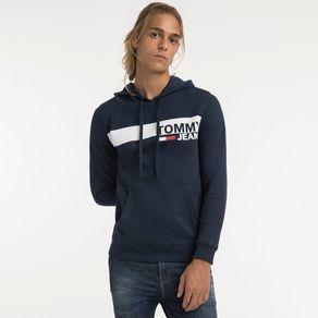 Tommy-Jeans-Moletom-Canguru-Com-Capuz-Faixa--Tommy-Jeans-