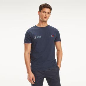 Mercedes-Formula-1-Camiseta-Manga-Curta-Gola-C