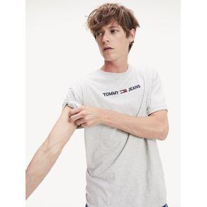 Tommy-Jeans-Camiseta-Masculina-Manga-Curta-Modelagem-Regular-Com-Bordado-Frontal