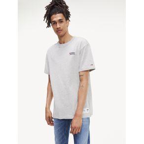 Tommy-Jeans-Camiseta-Masculina-Manga-Curta-Modelagem-Regular-Com-Estampa-No-Peito