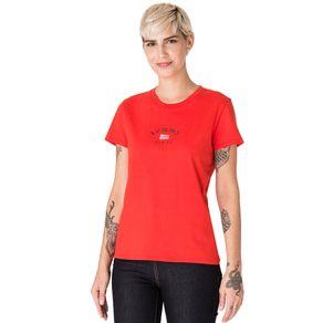 Tommy-Jeans-Camiseta-Feminina-Manga-Curta-Modelagem-Regular-Com-Bordado-Frontal