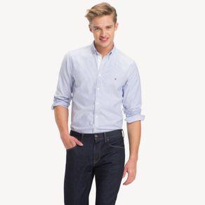 Tommy-Camisa-Classica-Masculina-Oxford-Manga-Longa-Modelagem-Slim