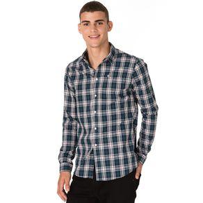 Tommy-Camisa-Xadrez-Masculina-Manga-Longa-Modelagem-Regular