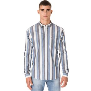Tommy-Camisa-Listrada-Masculina-Manga-Longa-Modelagem-Regular