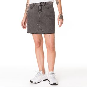 Tommy-Jeans-Saia-Jeans-Preta-Cintura-Alta-Com-Bordado