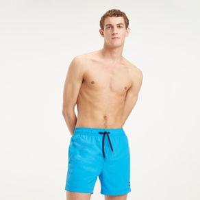 Tommy-Shorts-De-Banho-Masculino-Comprimento-Medio-Com-Cordoes-Ajustaveis