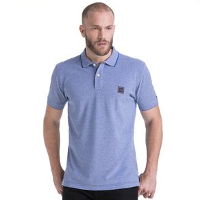 Tommy-Polo-Masculina-Oxford-Manga-Curta-Modelagem-Regular