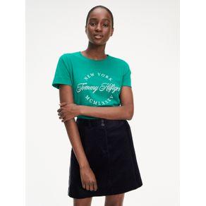 Tommy-Camiseta-Feminina-Golca-Careca-Manga-Curta-Com-Estampa-Frontal-
