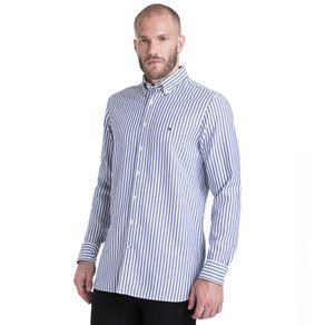 Tommy-Camisa-Masculina-Manga-Longa-Modelagem-Slim-Listrada