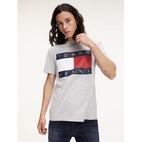 Tommy-Jeans-Camiseta-Masculina-Manga-Curta-Modelagem-Regular-Com-Estampa-Frontal