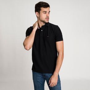 Tommy-Camisa-Polo-Masculina-Piquet-Regular-Fit-Manga-Curta-Lisa