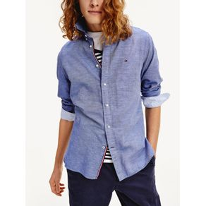 Tommy-Camisa-Slim-Cotton-Linen