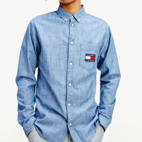 Tommy-Jeans-Camisa-Regular-Chambray