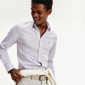 Camisa-Slim-Fit-Com-Estampa-Geometrica