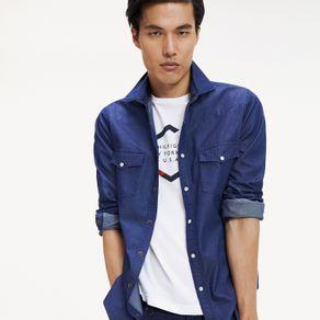 Tommy-Camisa-Masculina-Jeans-Modelagem-Regular