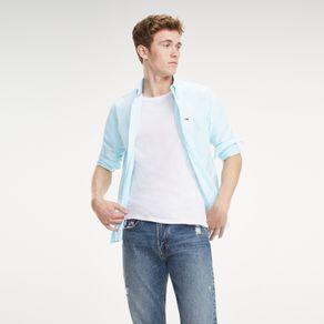 Camisa-Oxford-Masculina-Manga-Longa-Modelagem-Regular-Com-Logo-Bordado-No-Bolso-TJDM0DM06776_TJ302