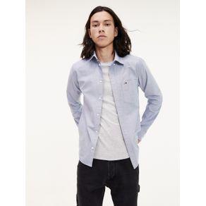 Camisa-Oxford-Masculina-Manga-Longa-Modelagem-Regular-Com-Logo-Bordado-No-Bolso-TJDM0DM06776_TJ002