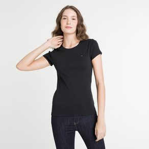 Tommy-Camiseta-Feminina-Gola-Careca-Manga-Curta