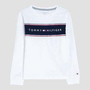 Camiseta-Infantil-Tommy-Hilfiger-Branco