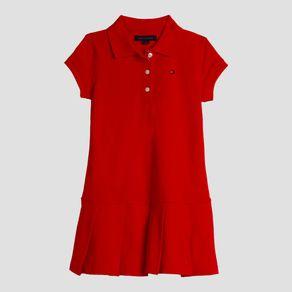 Vestido-Polo-Infantil-Tommy-Hilfiger-Vermelho