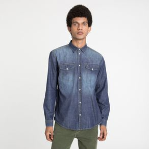Tommy-Jeans-Camisa-Jeans-Western-Manga-Longa