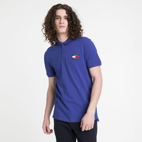 Tommy-Jeans-Polo-Logo-Frontal-Manga-Curta-Regular-Fit