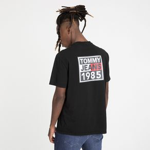 Tommy-Jeans-Camiseta-Manga-Curta-Logo-Grafico-Frente-E-Costas