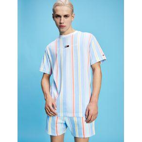 Tommy-Jeans-Camiseta-Listrada-Colecao-Pastel-Azul